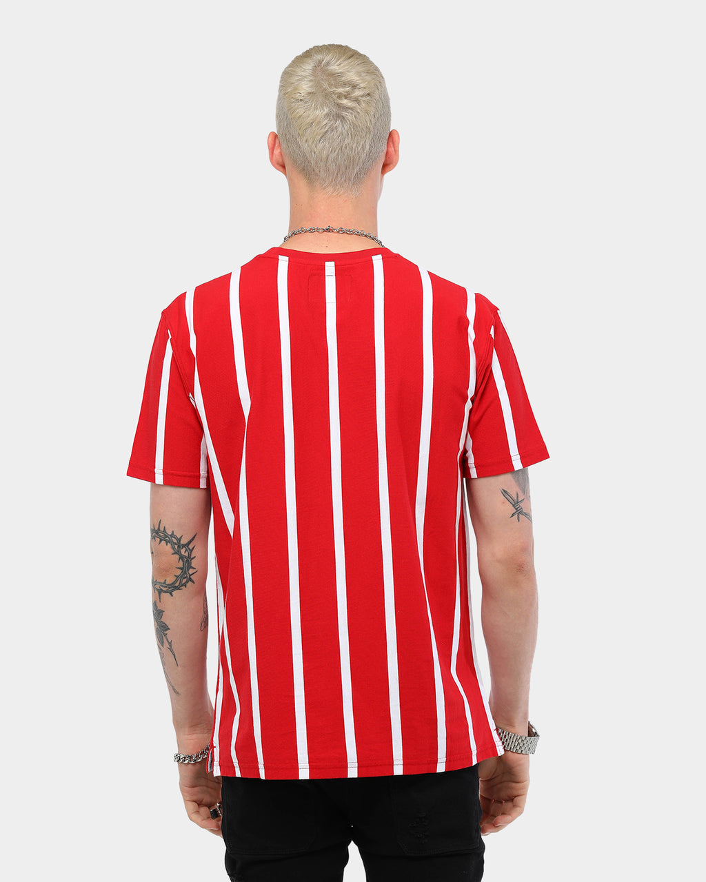 Carré Bande Vert Classique SS Stripe Tee Red/White
