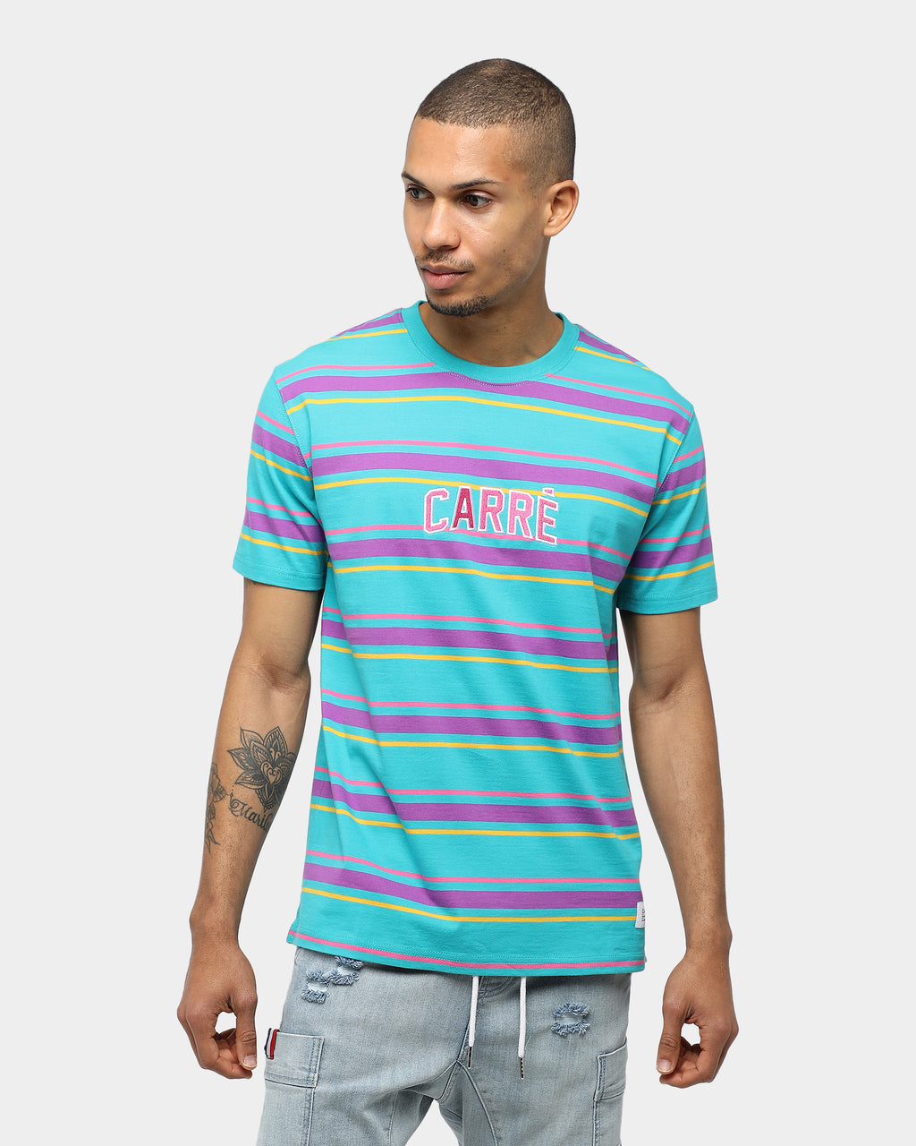 Carré Double Classique Stripe SS Tee Multi-coloured