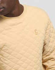 Carré Staple Quilted Sweater Sand