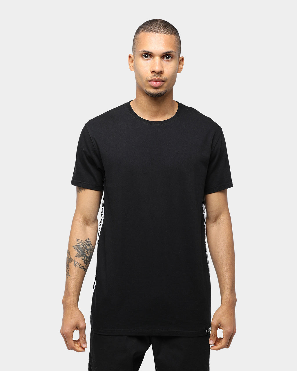 Type Tape Divise Short Sleeve T-Shirt