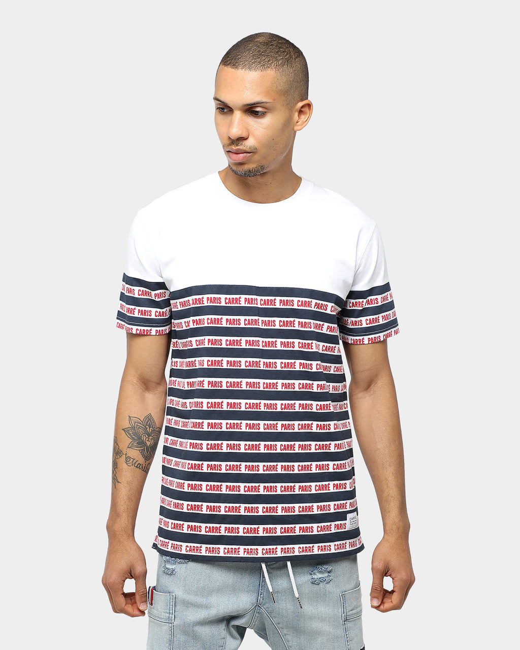 Carré Type Classique SS Tee White/Navy/Red