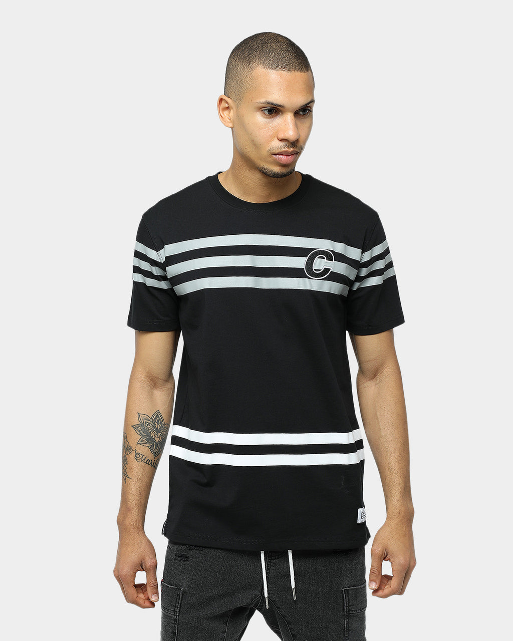 Carré Andre Classique Stripe SS Tee Black/Grey/White