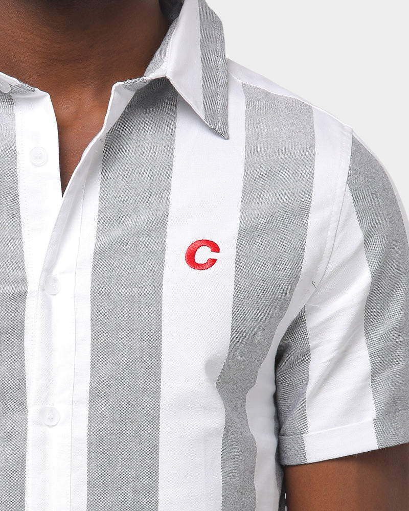 Carré Grand Bande Button Up Black/White