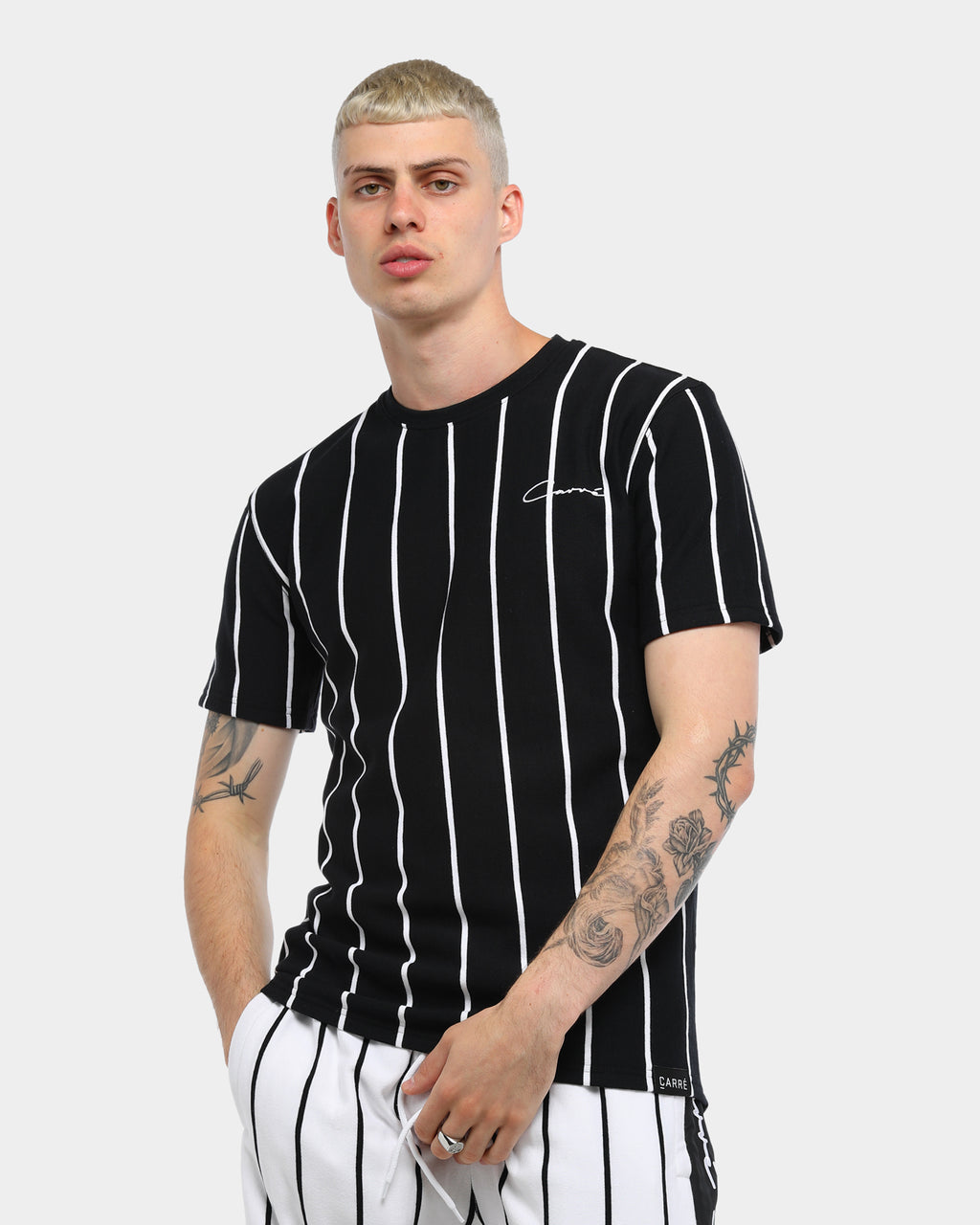 Carré Bande Practice Droptail Tee Black