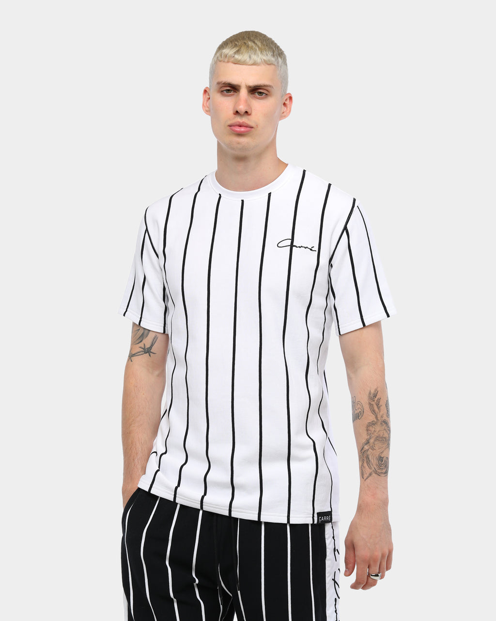 Carré Bande Practice Droptail Tee White