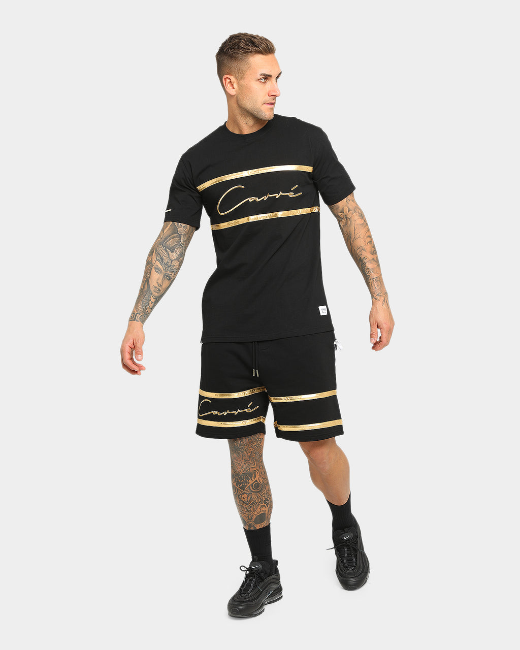Carré Men's Scripted Classique Short Sleeve T-Shirt Black/Gold