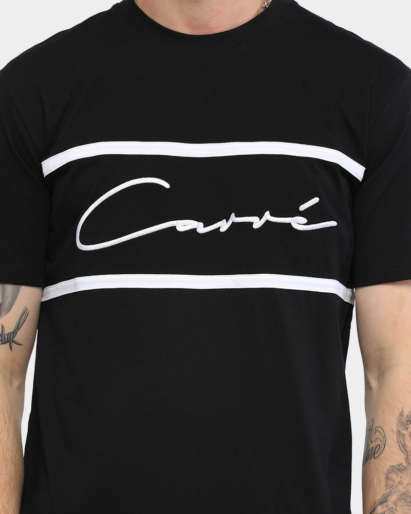Carré Men's Scripted Classique Short Sleeve T-Shirt Black/White