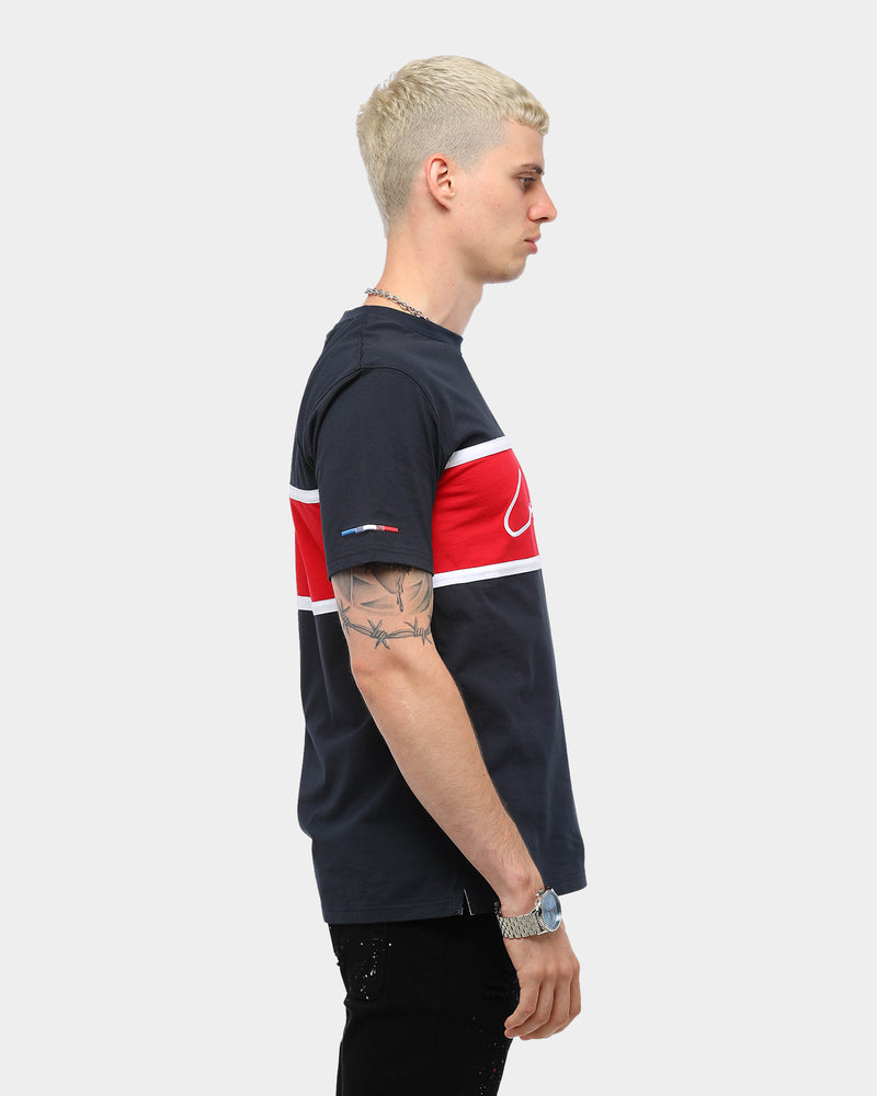 Carré Men's Scripted Classique Short Sleeve T-Shirt Navy/Red/White