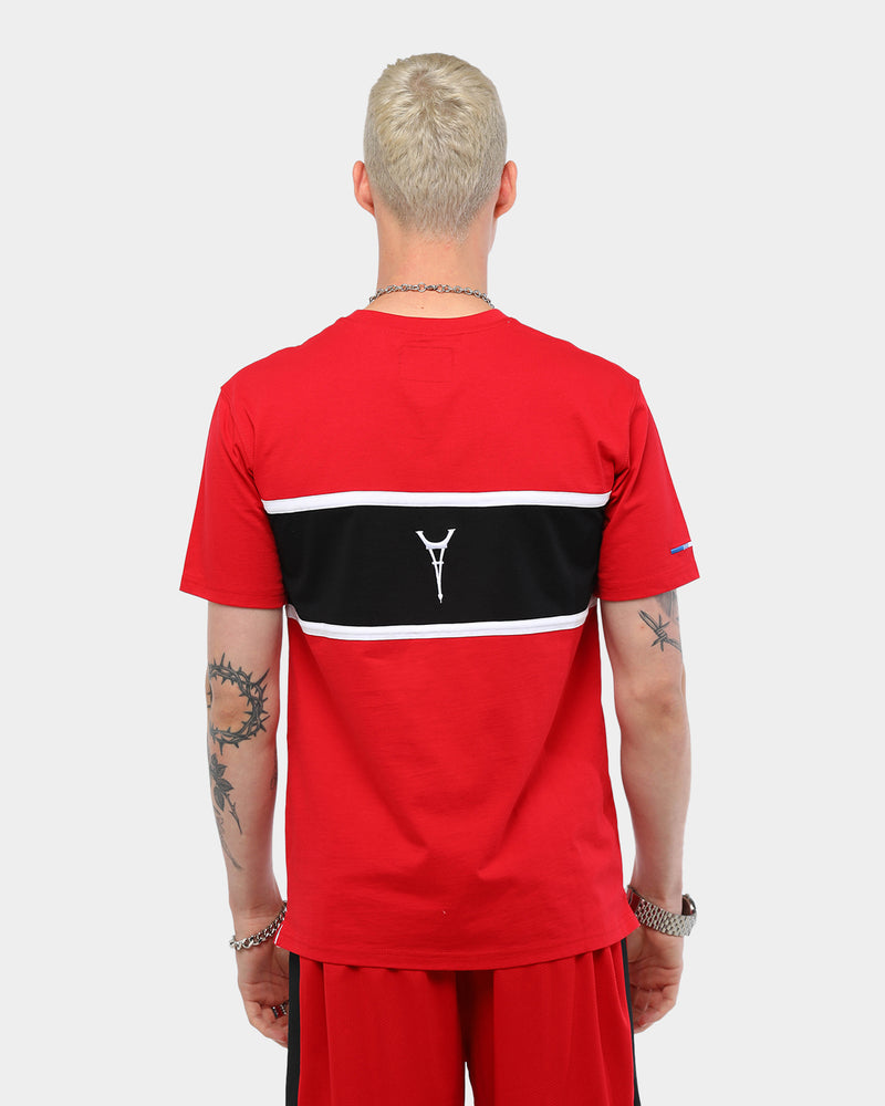 Carré Men's Scripted Classique Short Sleeve T-Shirt Red/Black/White
