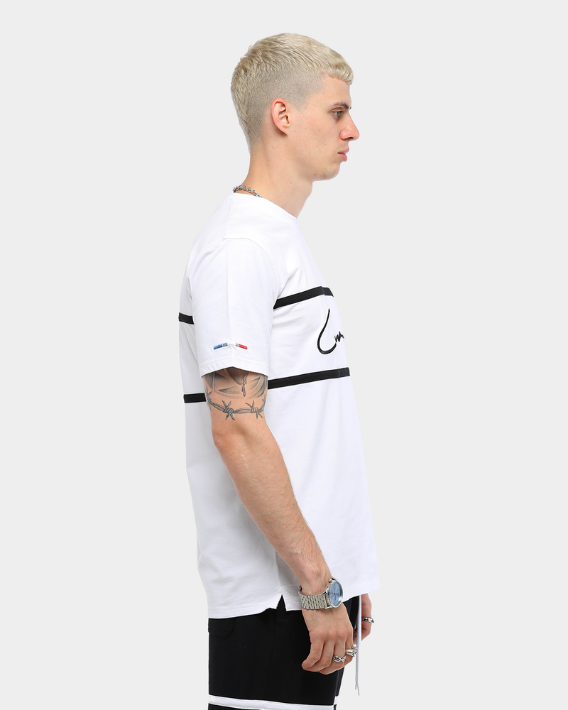 Carré Men's Scripted Classique Short Sleeve T-Shirt White/Black