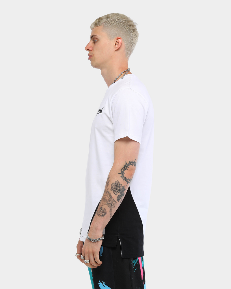 Carré Men's Double Diagonal Short Sleeve T-Shirt White/Black