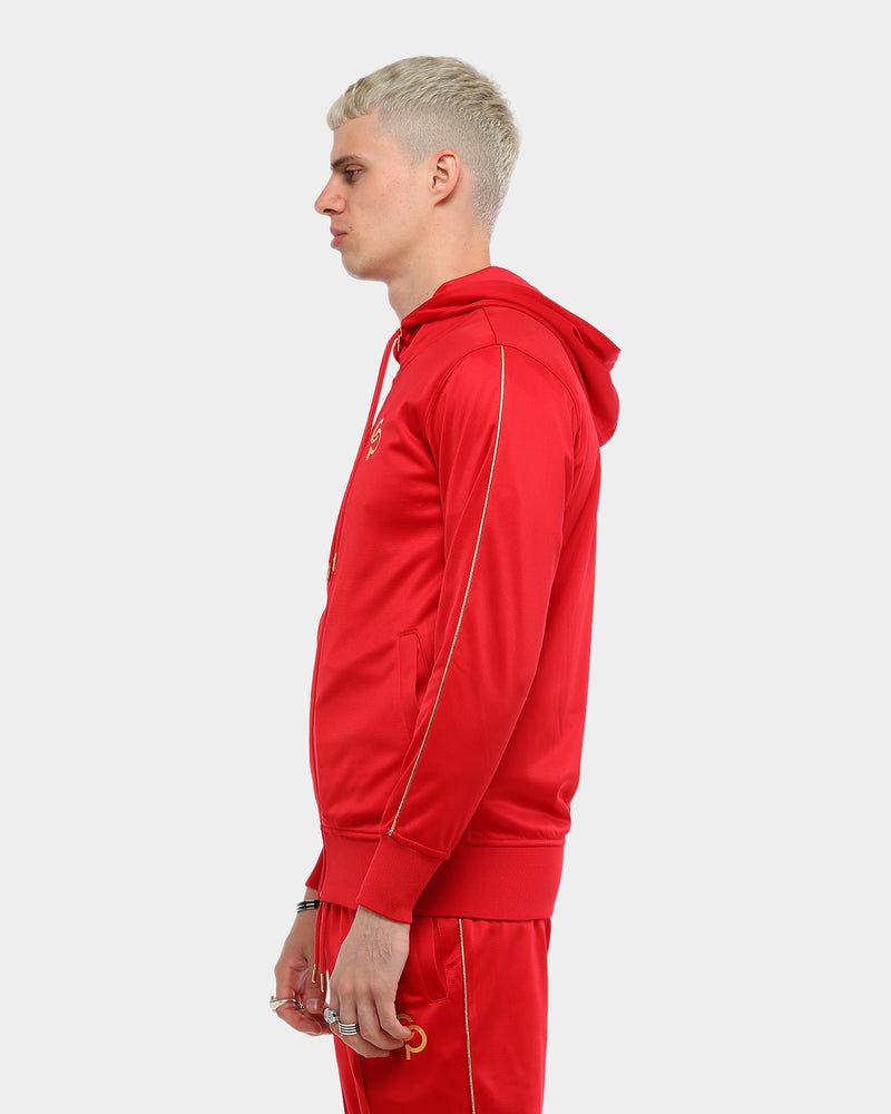 Carré Men's De Luxe Sport Zip Up Hoodie Red