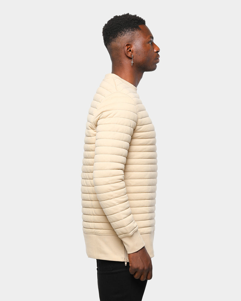 Carré Men's Shine Quilted Sweater Stone