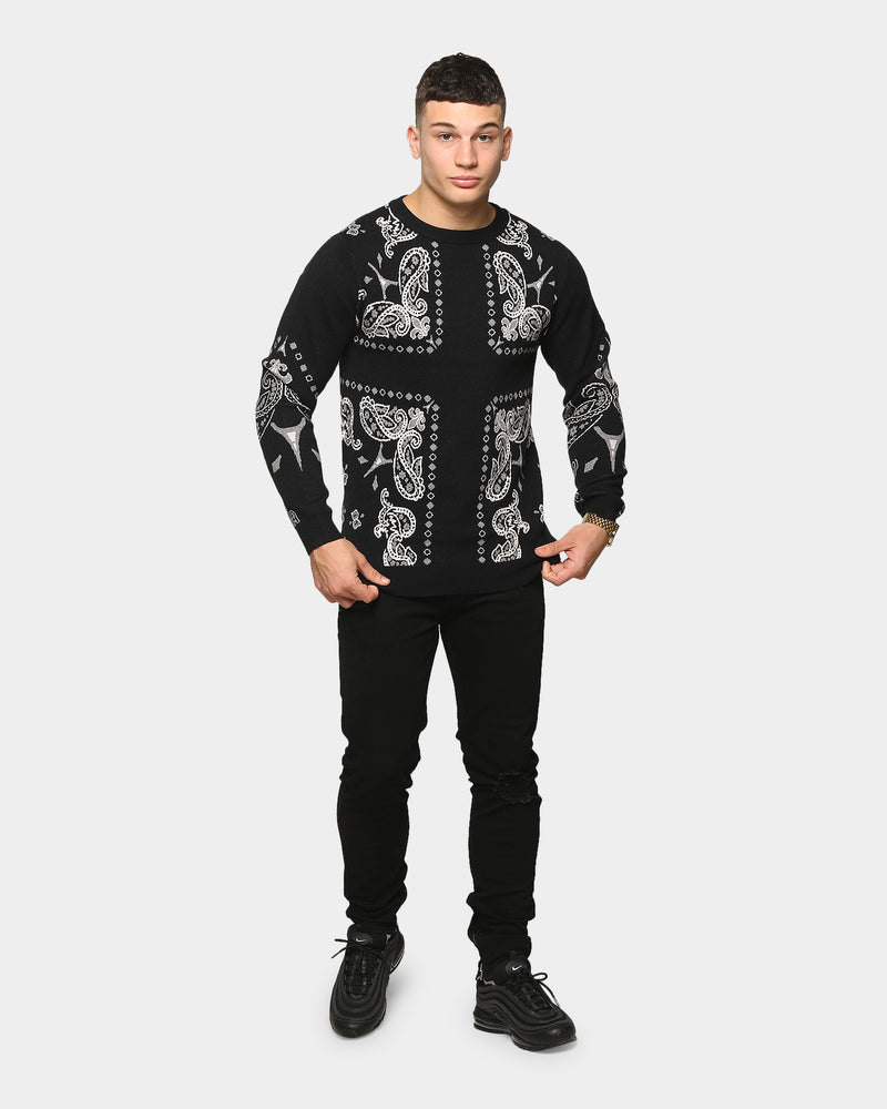 Carré Men's Mafioso Knitted Sweater Black