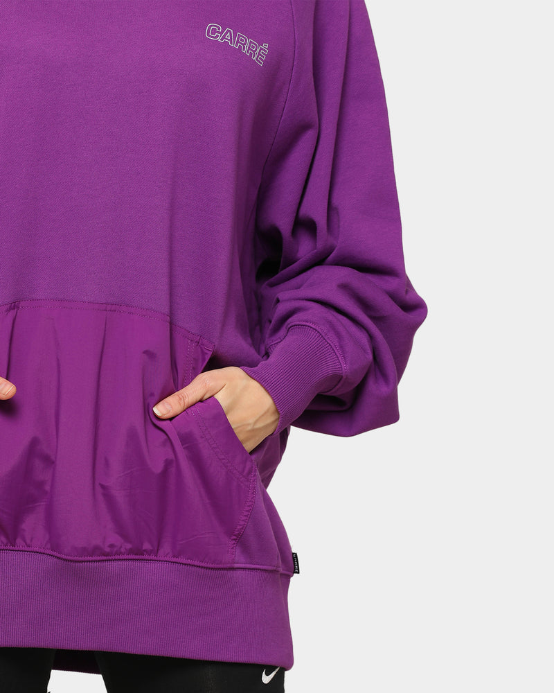 Carré Position Raglan Hoodie Purple