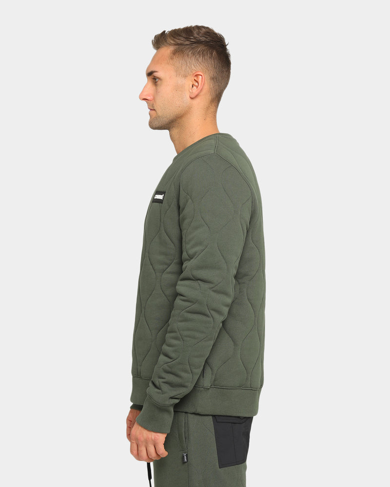 Carré Roadman Quilted Sweater Army Green