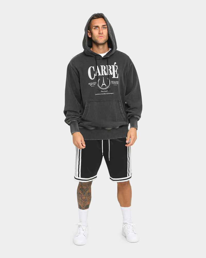 Carré Men's Emblem Long Sleeve Hoodie Black Wash