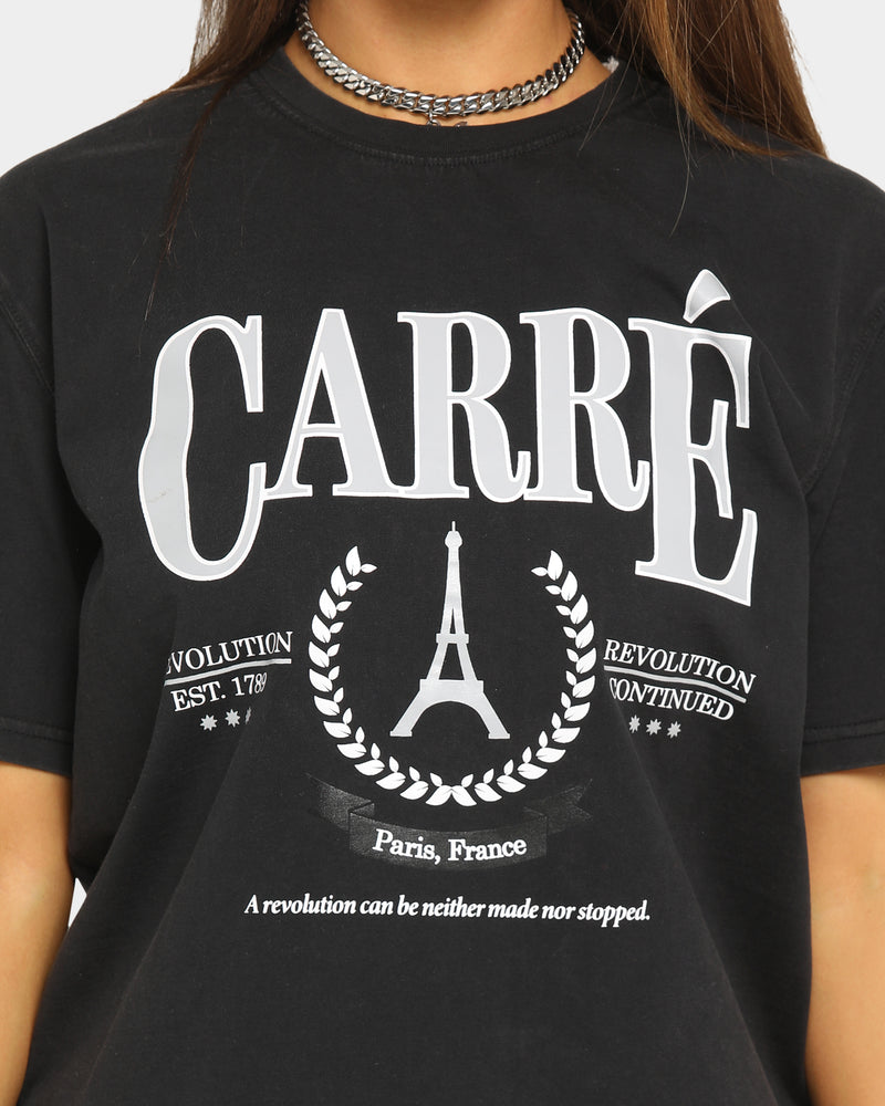 Carré Men's Emblem Classique Short Sleeve T-Shirt Black Wash