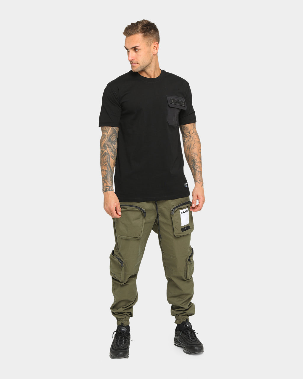 Carré Forest Pocket Short Sleeve T-Shirt Black