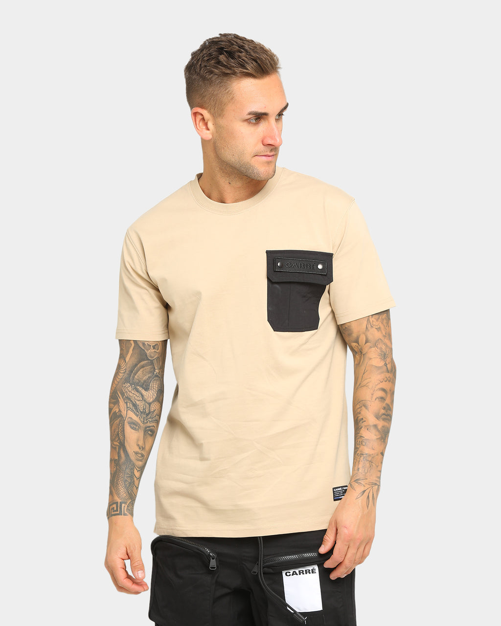 Carré Men's Forest Pocket Short Sleeve T-Shirt Stone