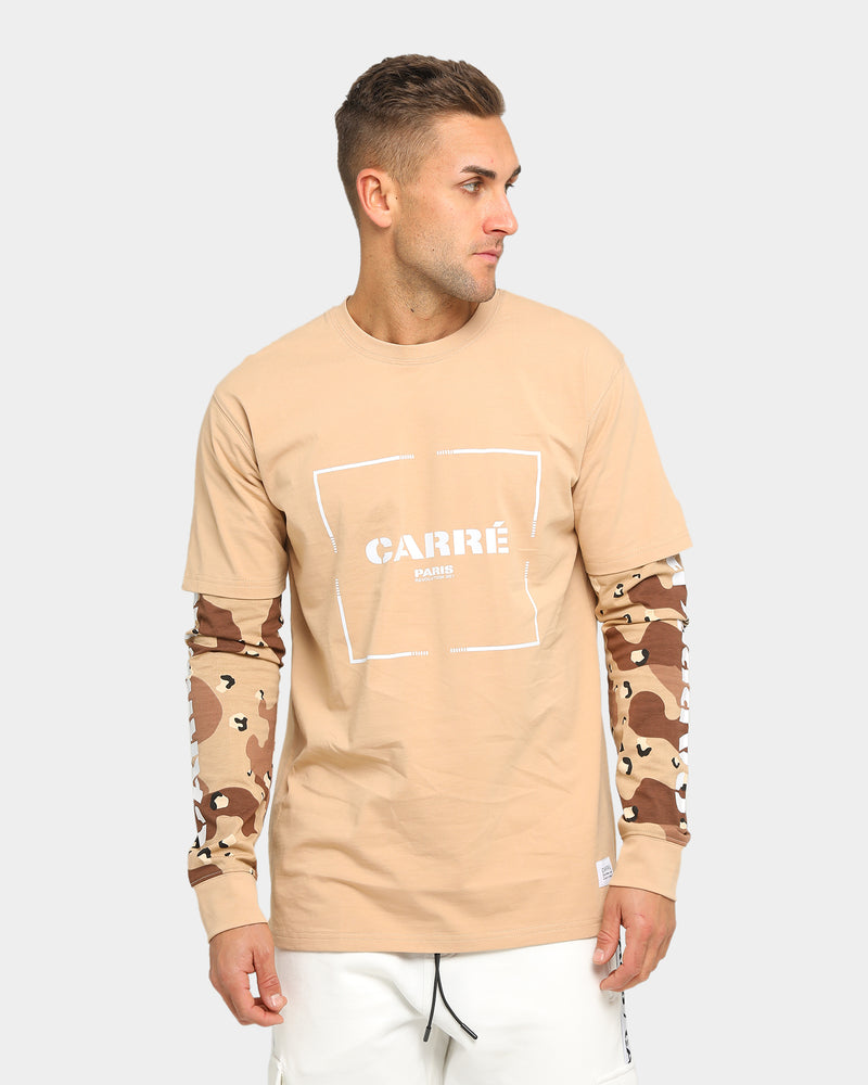 Carré Revolution Layer Long Sleeve T-Shirt Sand