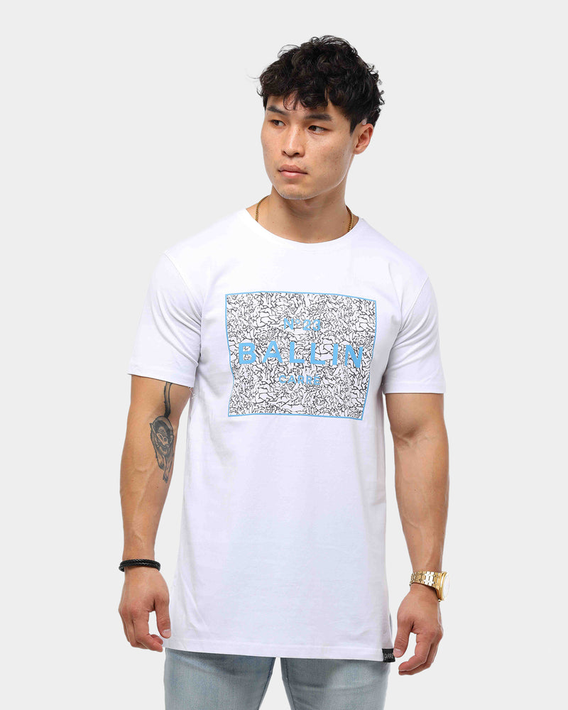 Carré Men's Ballin 3 Retro Divise SS Tee White