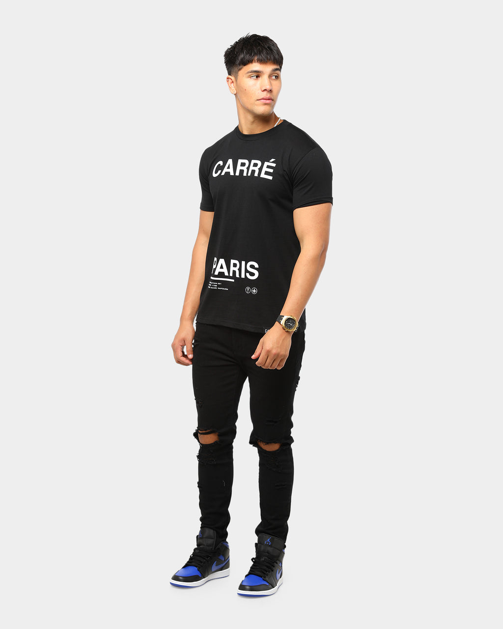 Carré Principle Standard Classic Short Sleeve T-Shirt Black