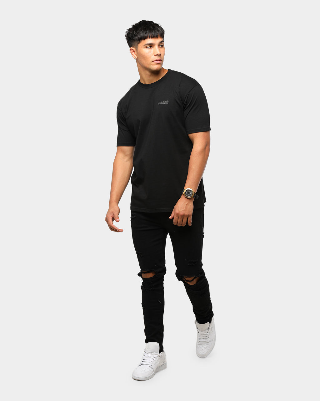 Carré Sport Standard Short Sleeve T-Shirt Black