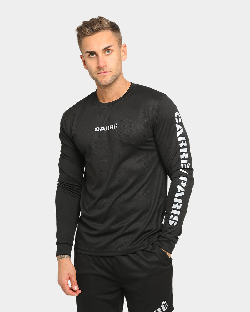Carré Momentum Active Long Sleeve T-Shirt Black/Reflective