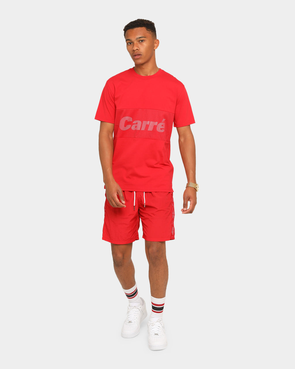Carré Piste Short Sleeve T-Shirt Red