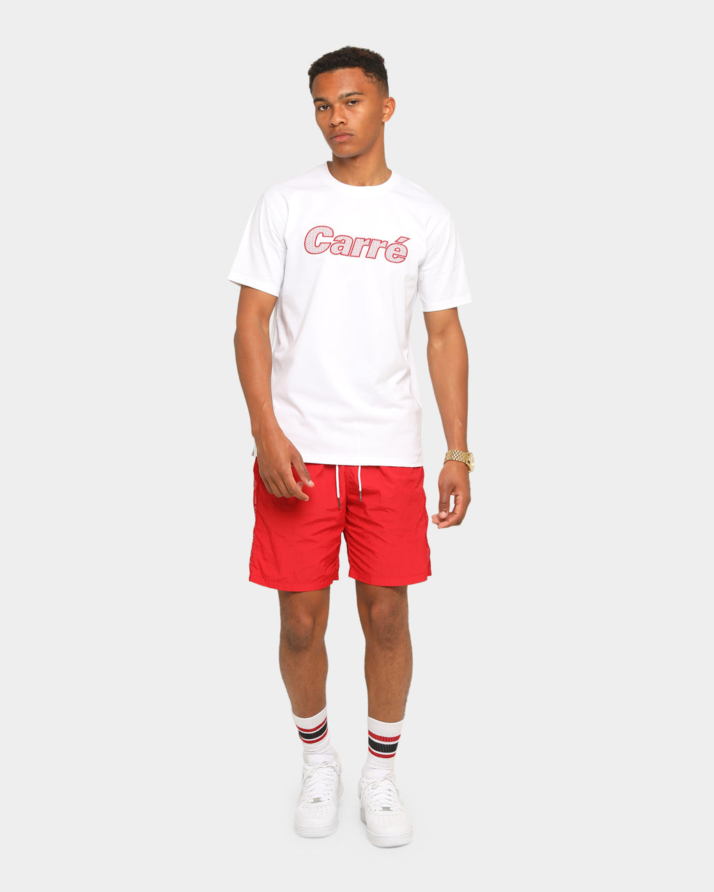 Carré Piste Logo Short Sleeve T-Shirt White