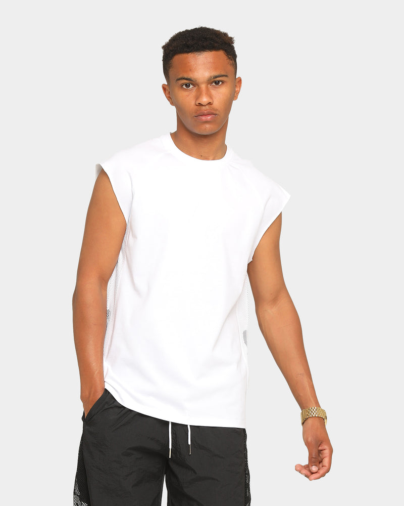 Carré Piste Muscle T-Shirt White