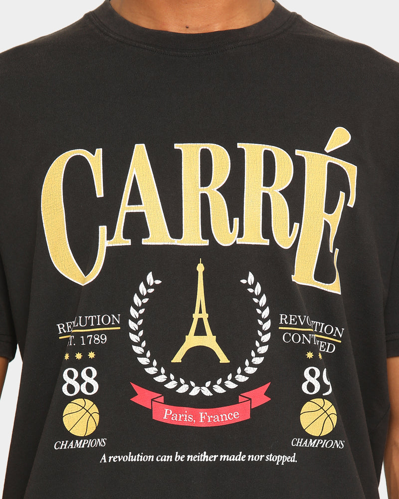 Carré Men's Emblem Classique Short Sleeve T-Shirt Washed Black