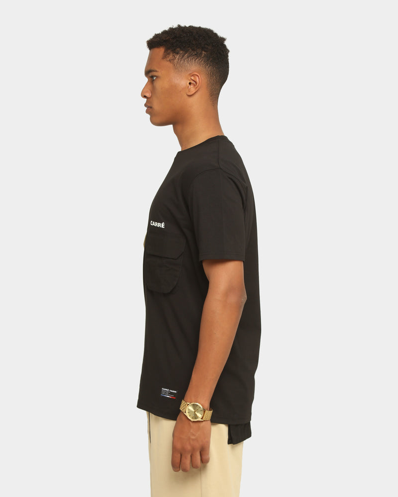 Carré Men's Combiner Pocket Short Sleeve T-Shirt Black/Stone