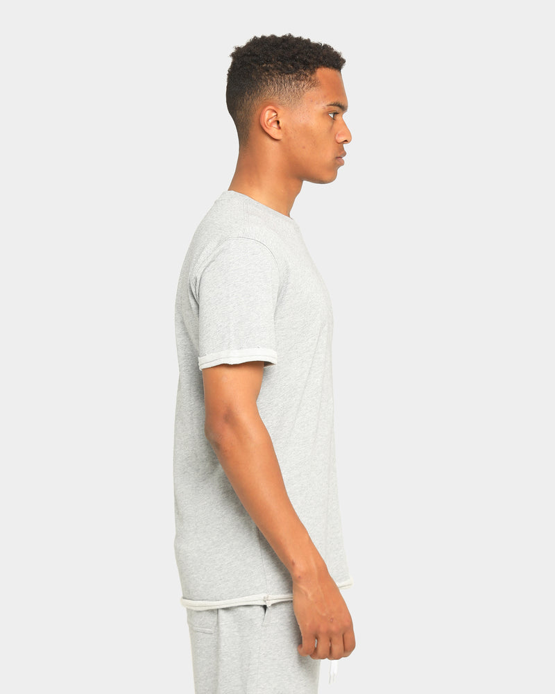 Carré Emblem Rugueux Short Sleeve T-Shirt Grey Marle