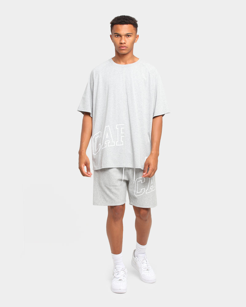 Carré Enorme Oversized Double Up Short Sleeve T-Shirt Grey Marle