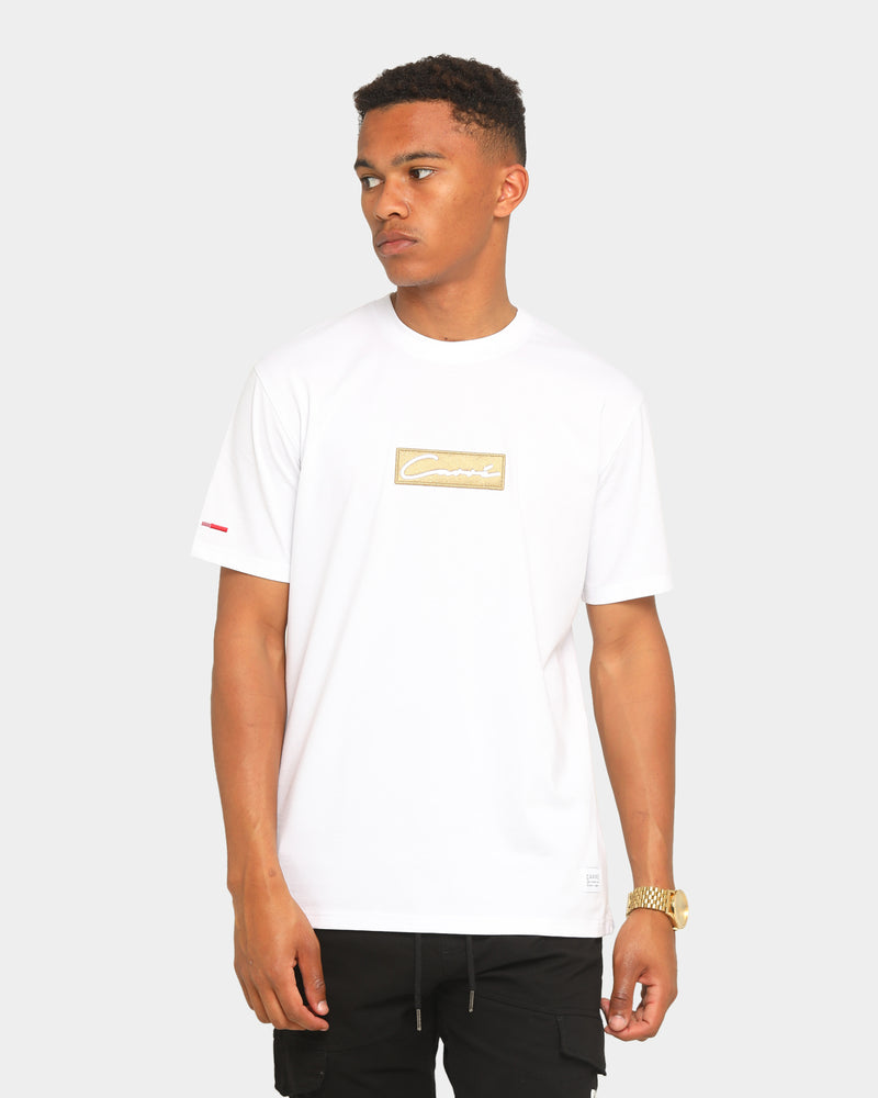 Carré Scripted Box Classique Short Sleeve T-Shirt White/Gold