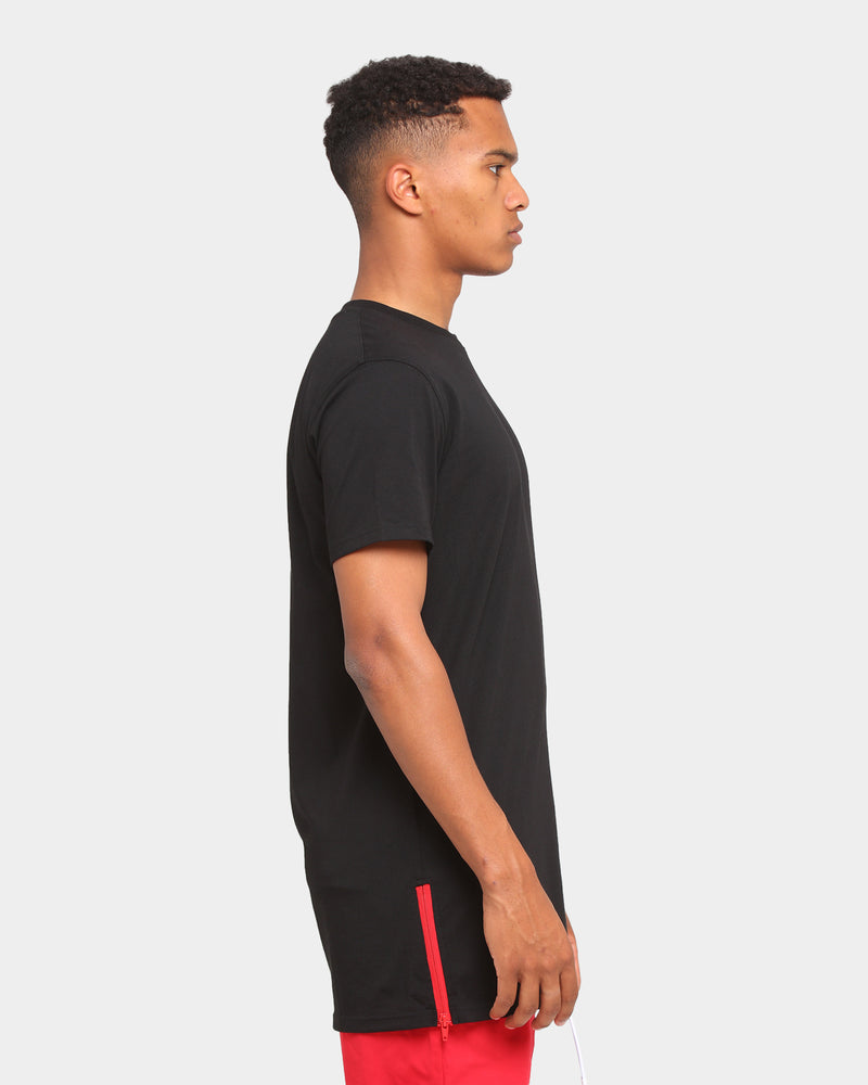 Carré Side Piece Short Sleeve T-Shirt Black/Red
