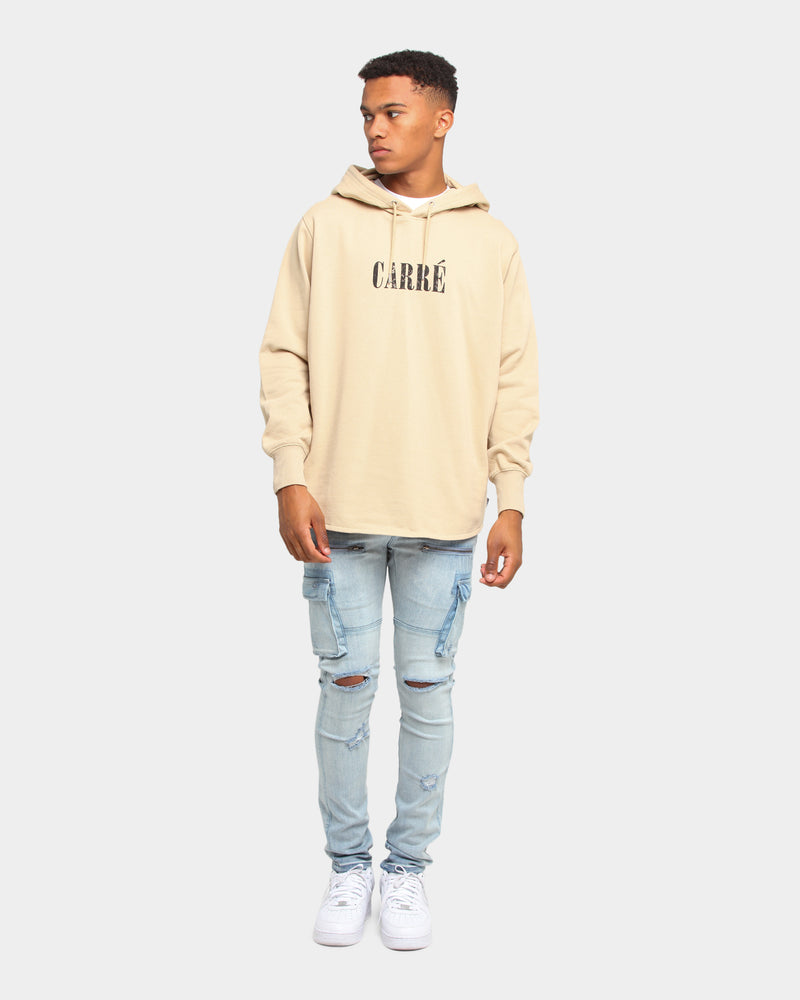 Carré Declaration Courbe Hoodie Stone