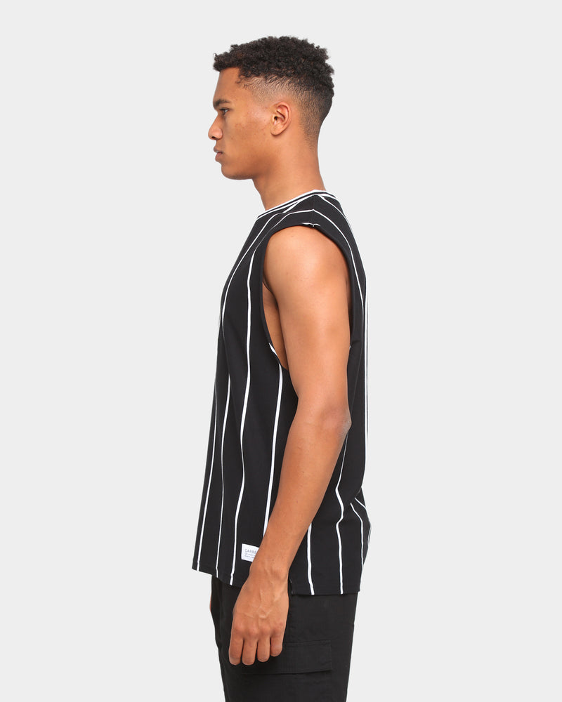 Carré Deux Stripe Muscle T-Shirt Black/White