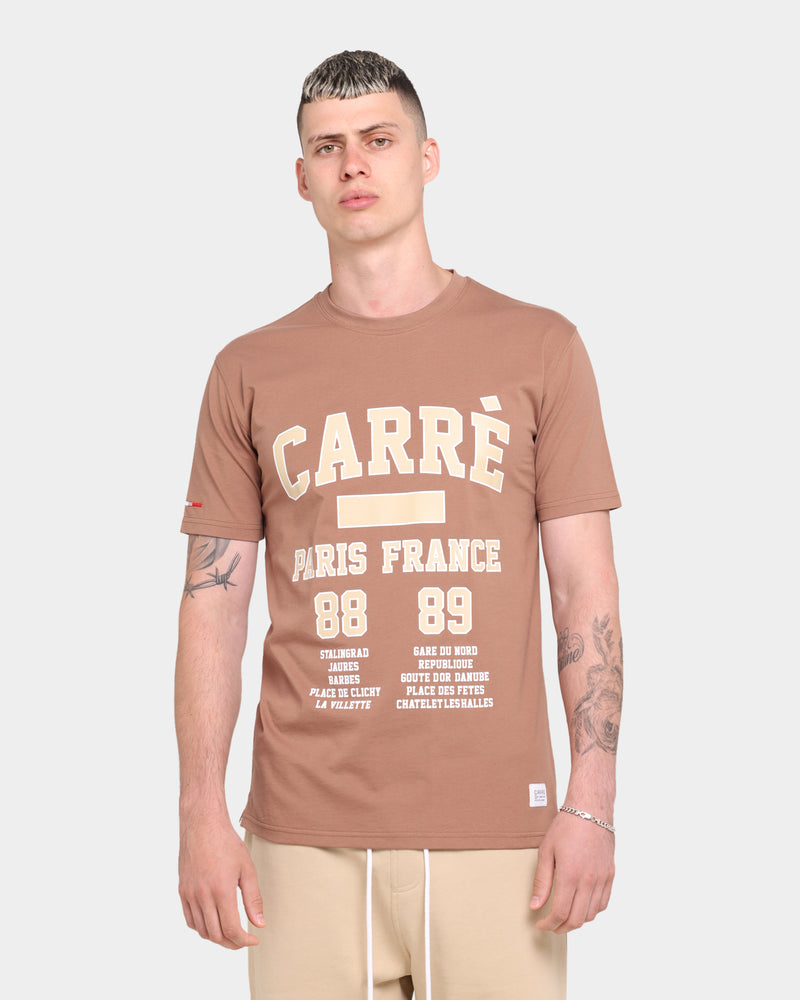 Carre CDG Classique Short Sleeve T-Shirt Brown