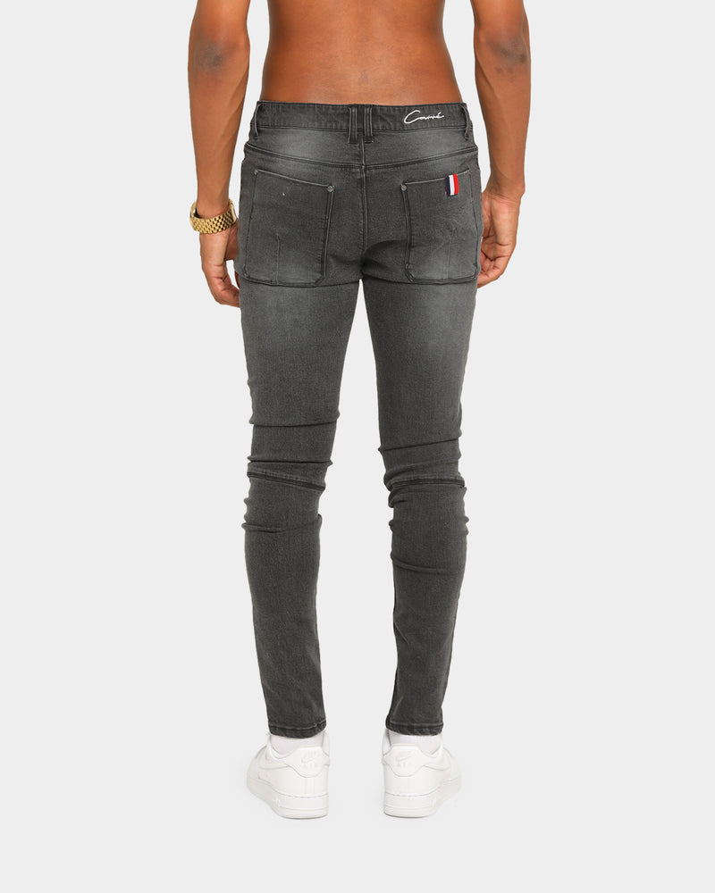 Carré Tranche Jean Washed Black