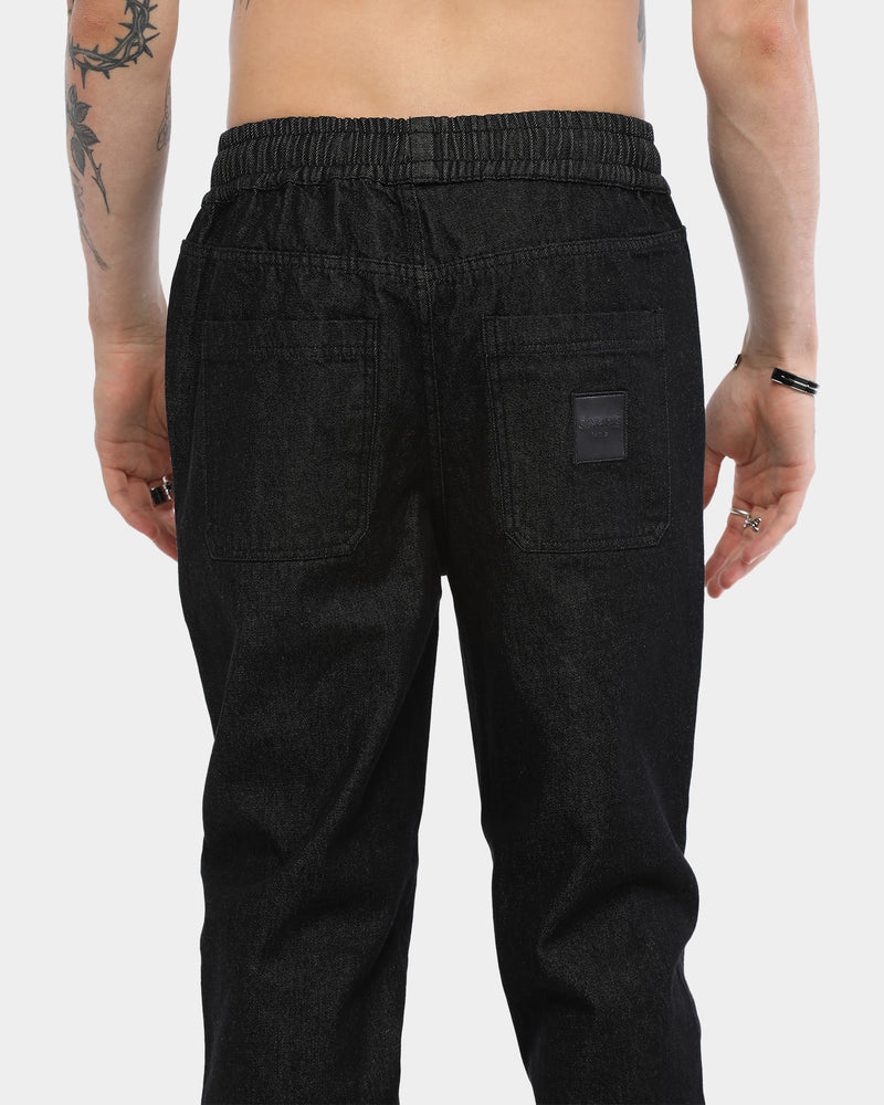 Carré Men's Rayures Denim Jogger Black