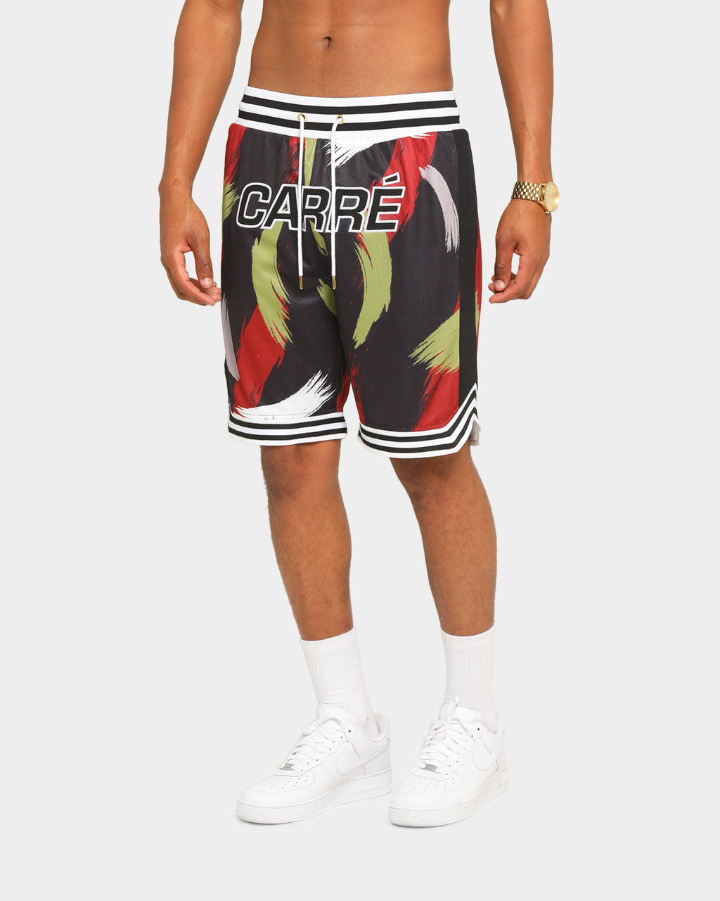 Carré Men's Retro Ball Short Black/Red/Gold