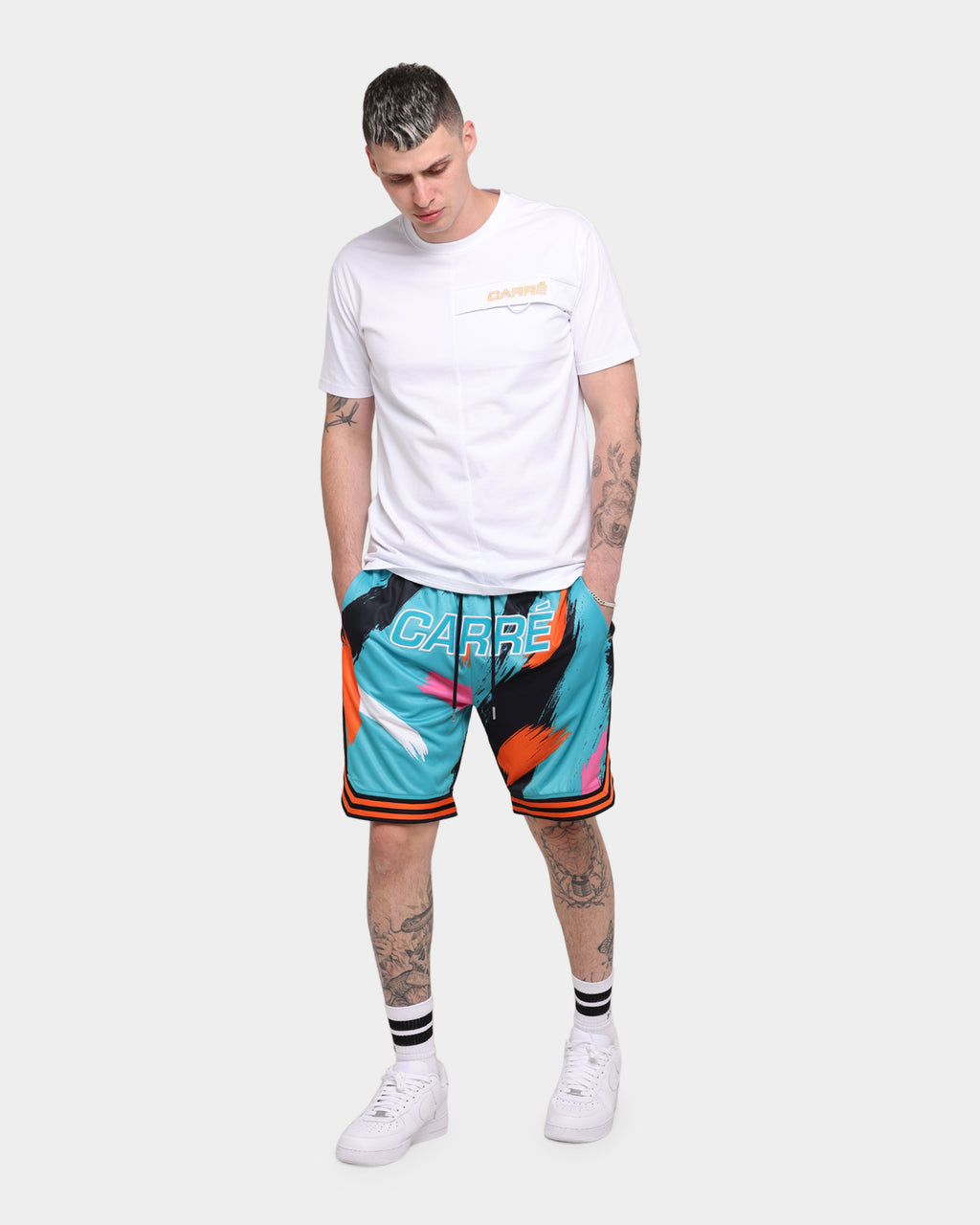 Carré Retro Ball Shorts Teal/Black