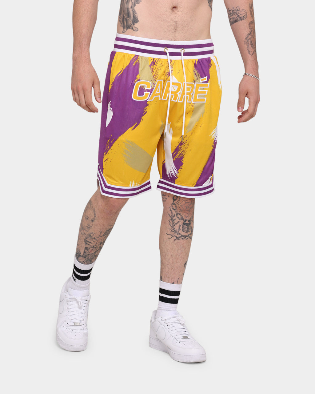 Carré Retro Ball Short Yellow/Purple/W