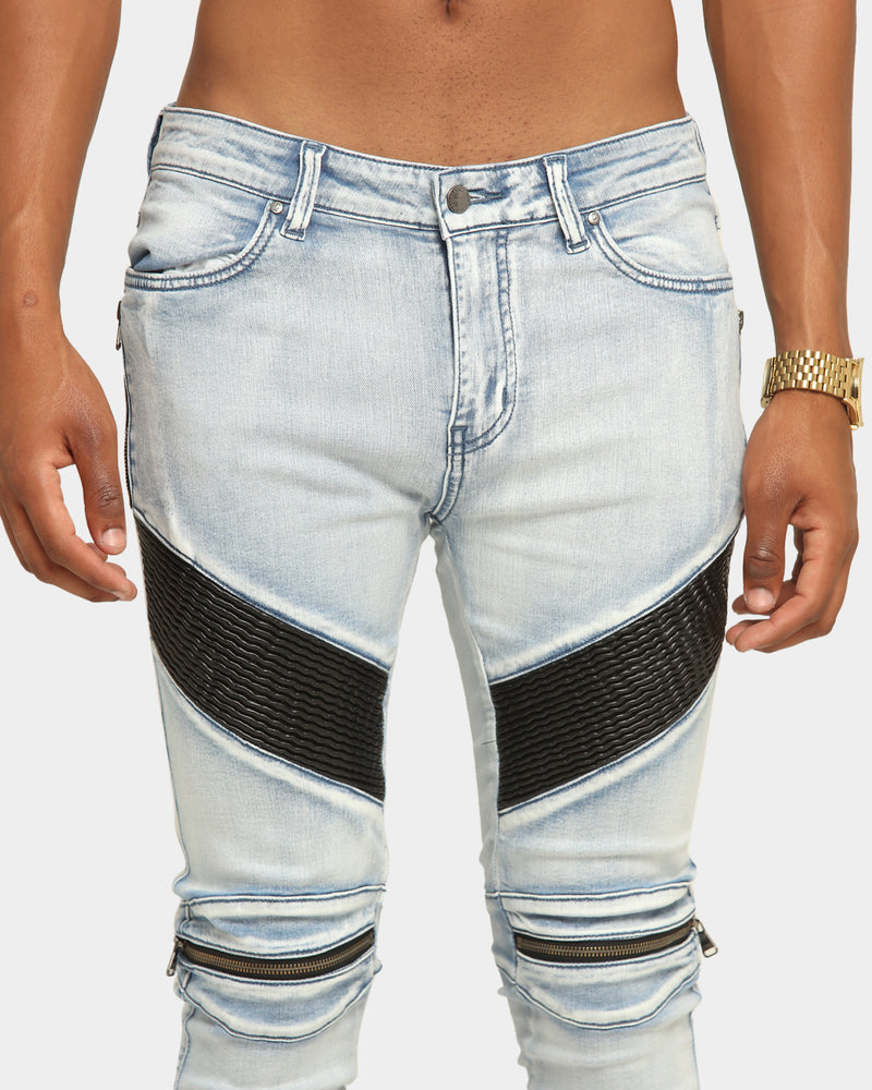 Carré Men's Moto Man Jean Light Blue
