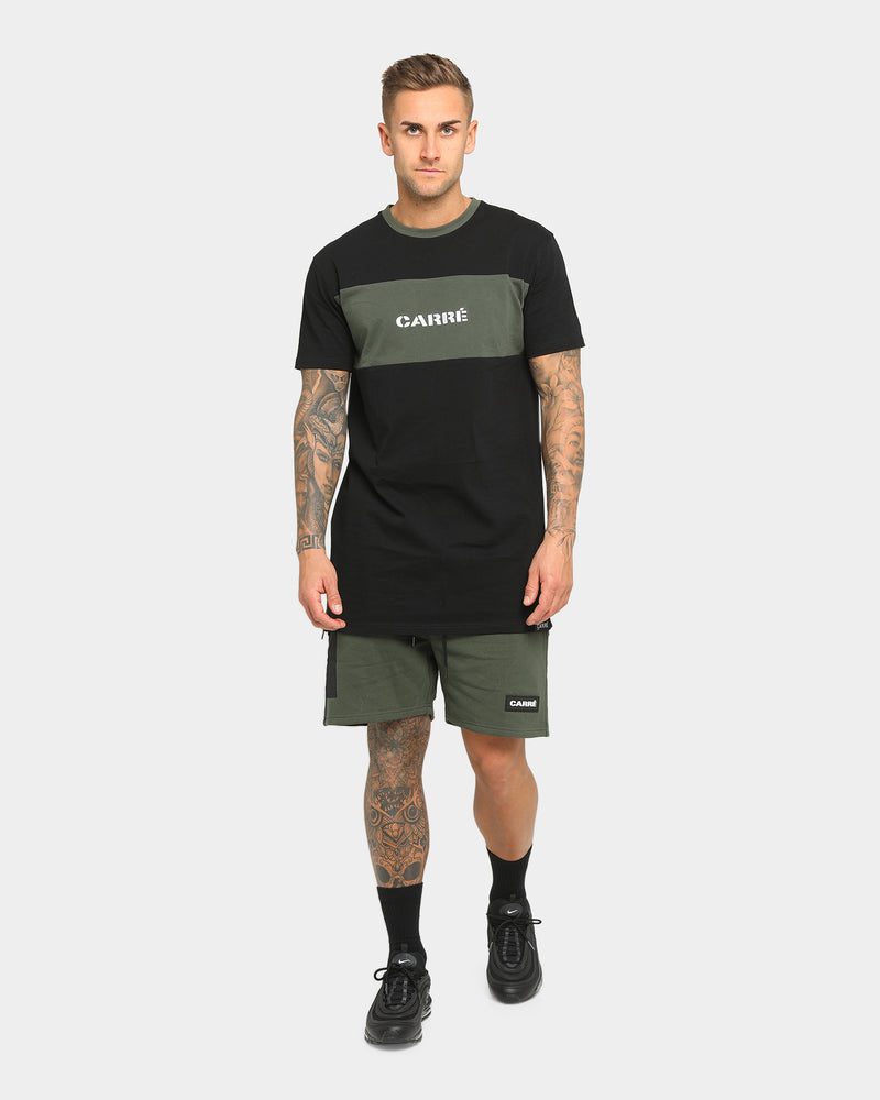 Carré Roadman Quilted Shorts Army Green