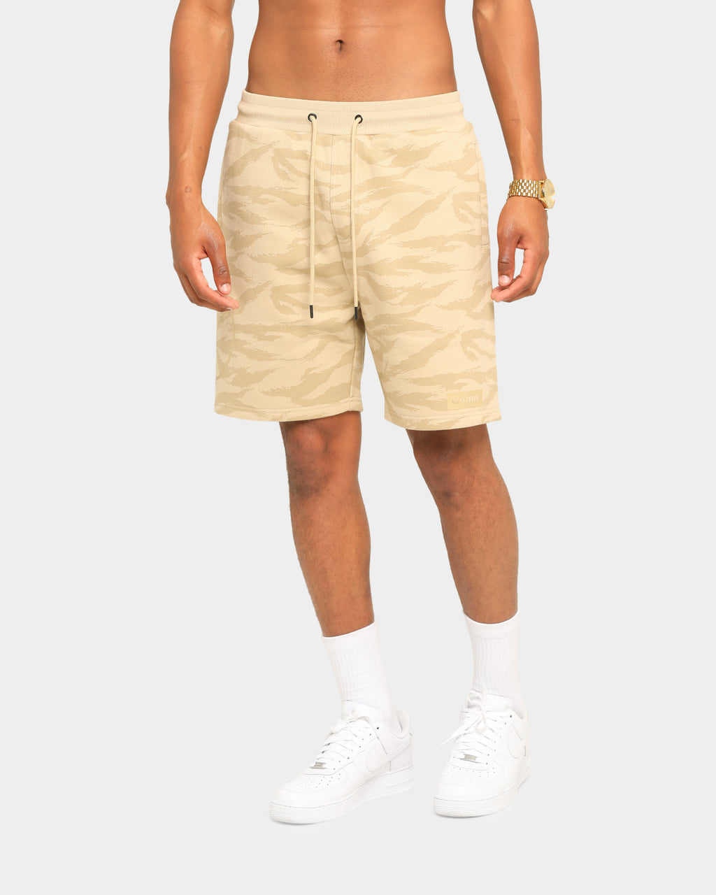 Carré Reticule Track Shorts Stone