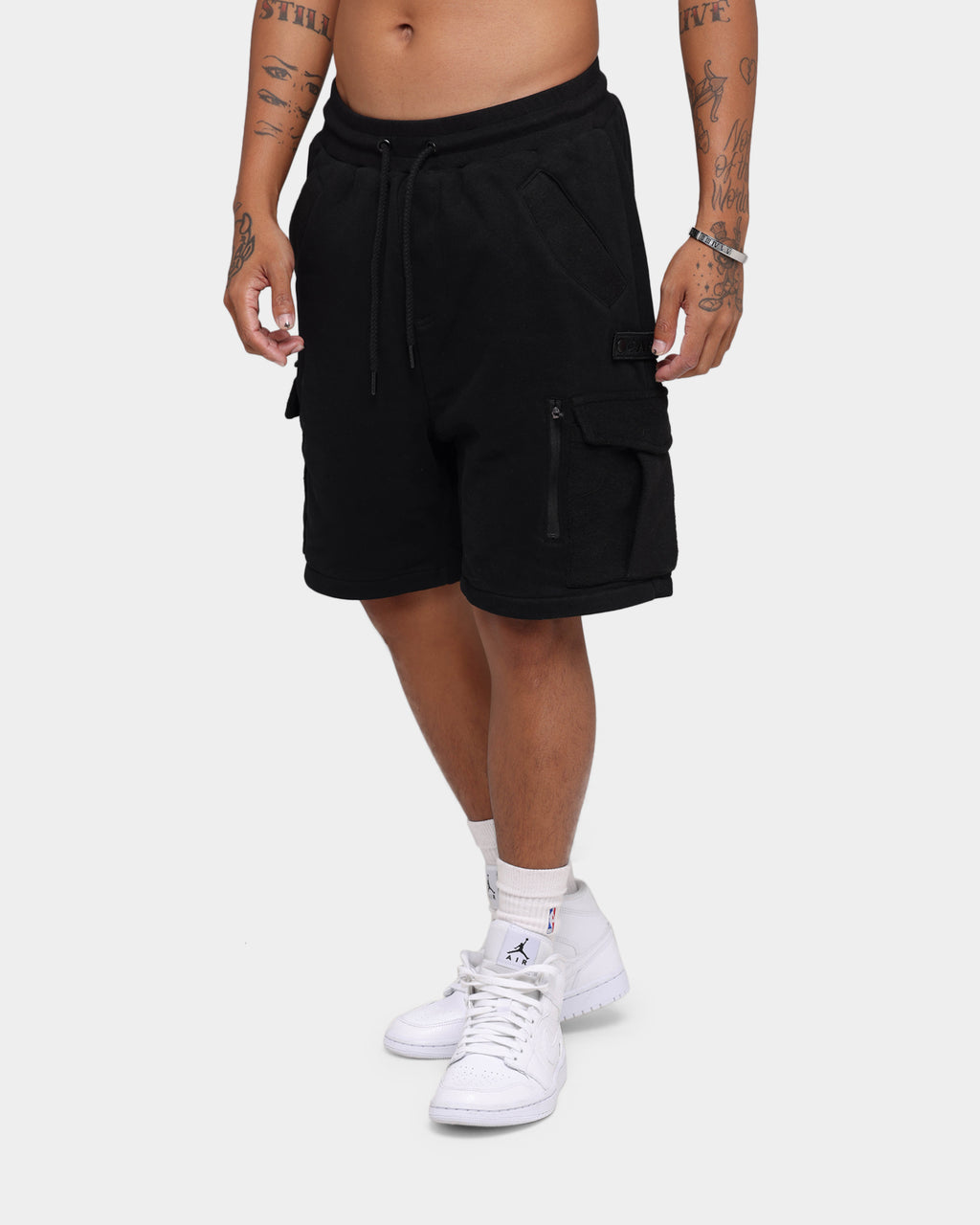 Carré Evolution Fleece Cargo Shorts Black